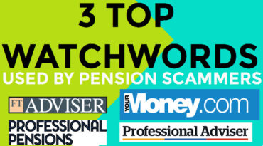 SCAM WORDS USED BY PENSION PIRATES