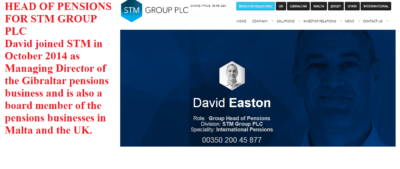 Pension Life Blog - Pension Scams - David Easton, Head of Pensions at STM Group PLC