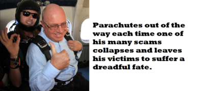 Stephen Ward parachutes away each time his victims face crippling losses on scams he has cashed in on. Pension Life