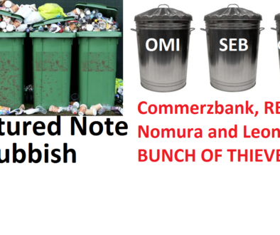 Say NO to structured notes for pensions! - Pension Life. Commerzbank, RBC, Nomura and Leonteq are among the rogue providers of these toxic, illiquid investments which should not be used for pensions.