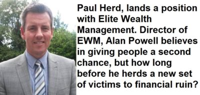 Pension Life Blog - Paul Herd is now working at Elite Wealth Management despite being found responsible for loosing previously advised clients money