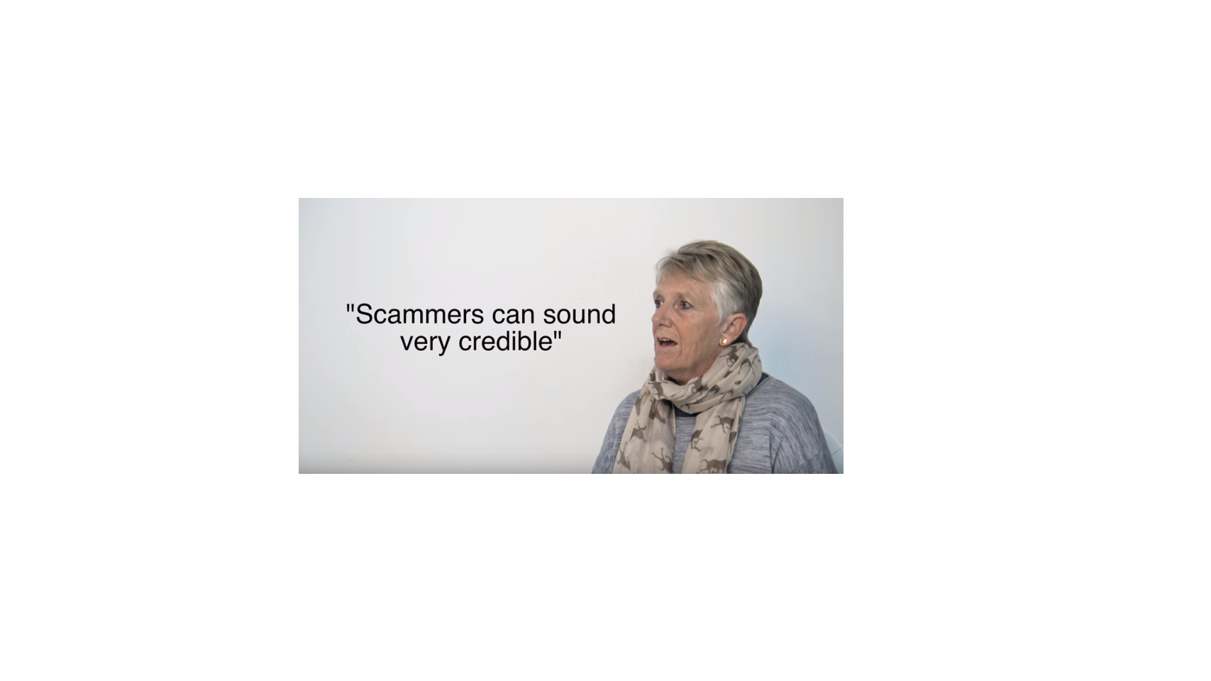 Scammers can sound very credible