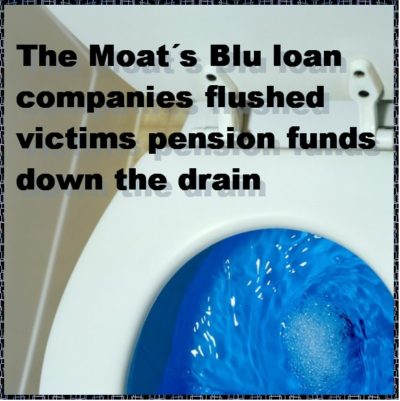 Pension Life Blog - FAST PENSIONS TO DIE A SLOW DEATH - Peter and Sarah Moats Blu loan companies flushed victims pension funds down the drain