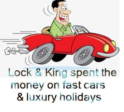 Pension Life blog - Pension liberation scammers Successful Pensions jailed - Lock & King spent the money on fast cars & luxury holidays