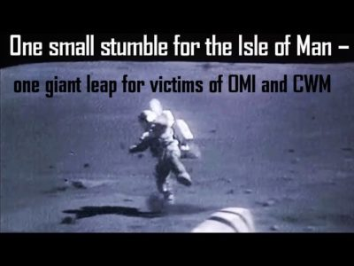 Pension Life blog - Man on the moon falling over One Small Stumble for the Isle of Man - one giant leap for victims of OMI and CWM