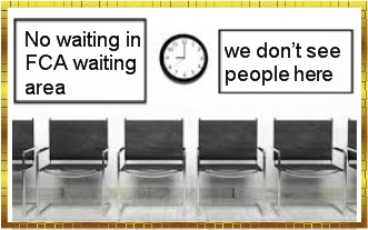 Pension Life Blog - FCA pension scam - No waiting in the FCA waiting area: we don´t see people here