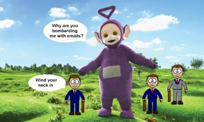 Pension Life Blog - Tinky Winky and his motley crew - FCA Pension Scams