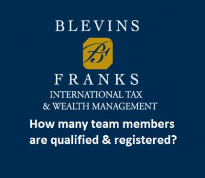 Blevins Franks Spain - Qualified and registered?