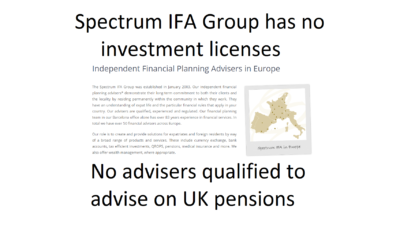 Spectrum IFA Group - qualified and registered?
