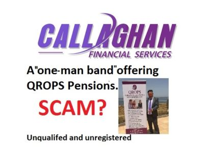 Pension Life Blog - Callaghan QROPS Spain - qualified and registered? - Graeme Callaghan