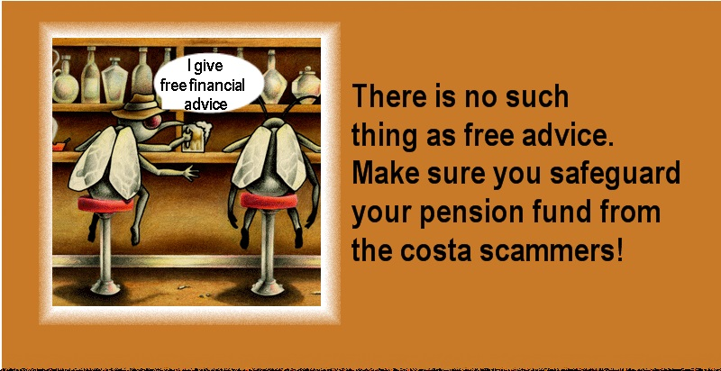 "Pension Life Blog - COSTA SCAM - THE COST OF ""ADVICE"" IN SPAIN - costa chiringuitos costa scammers"