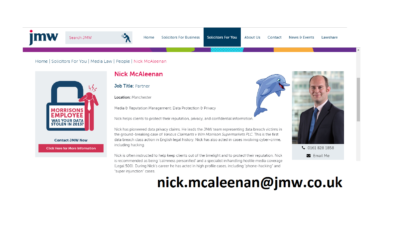 Dolphin Trust's Lawyers JMW Solicitors LLP