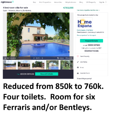 Jody Smart's magnificent Spanish villa - on sale for 760,000 Euros (hopefully to help pay back some of the victims of her company CWM who lost their life savings)