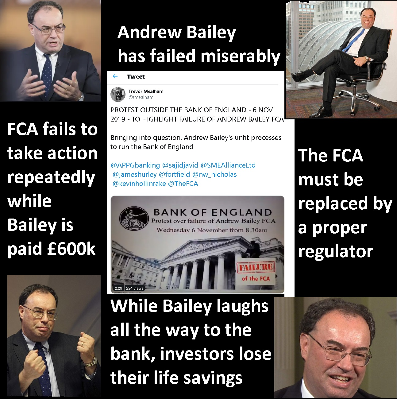 Andrew Bailey Protest