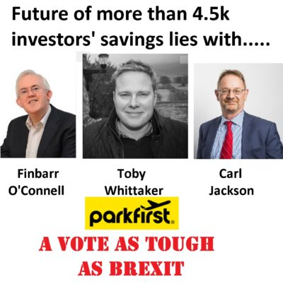 Park First investors face a dilemma as they are invited to vote for administration or liquidation of the Park First companies.