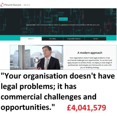Pinsent Masons - hired by Dalriada Trustees to bankrupt the Ark victims.