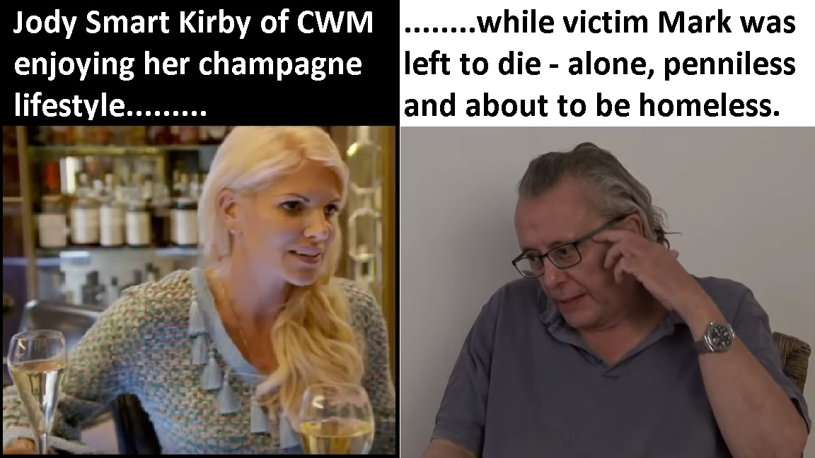 Fleeced by Darren and Jody Kirby of his pension and house, CWM victim died alone in abject poverty.