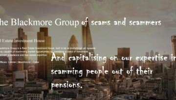 Blackmore Group of scams and scammers
