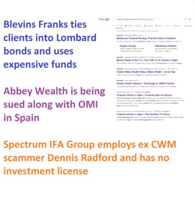 Most financial advice firms in Spain and beyond are still selling insurance bonds illegally.