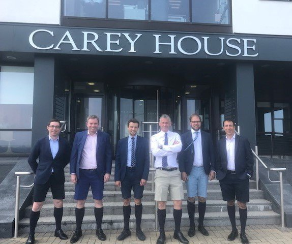 Carey Olsen staff in shorts