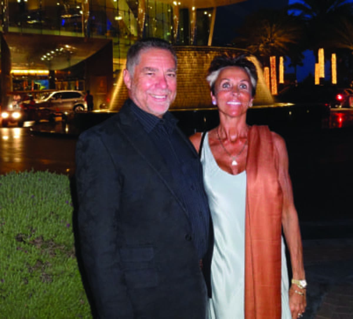 Terence Wright and his wife Lesley - enjoying the good life while his victims suffer poverty in retirement