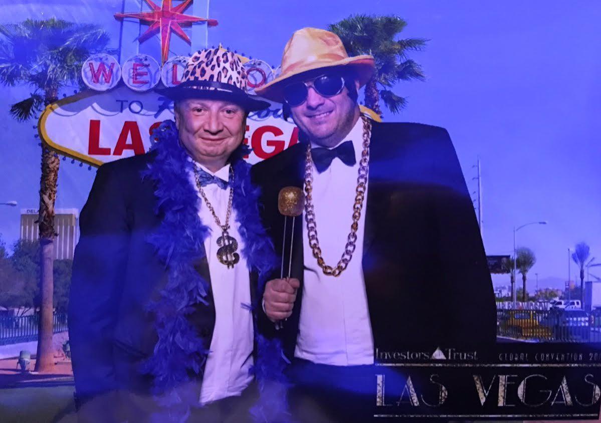 John Ferguson (left) & David Vilka (right) splashing stolen pension funds in Vegas