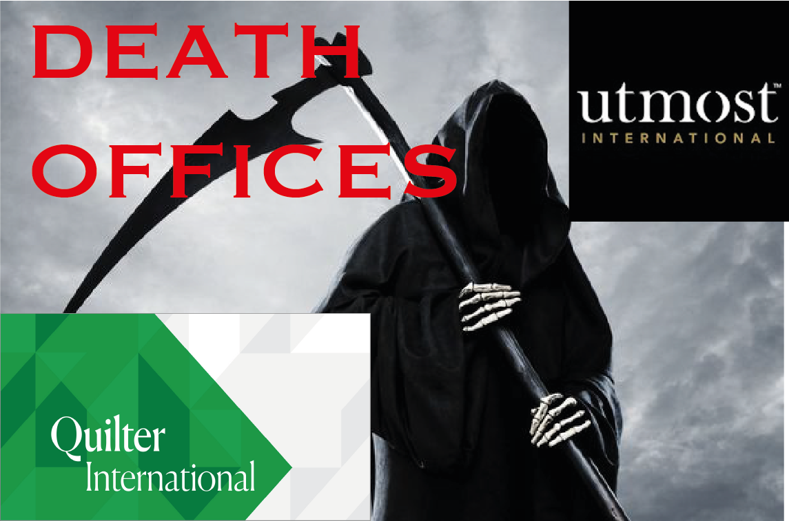Death offices - Quilter & Utmost facilitate pension fraud