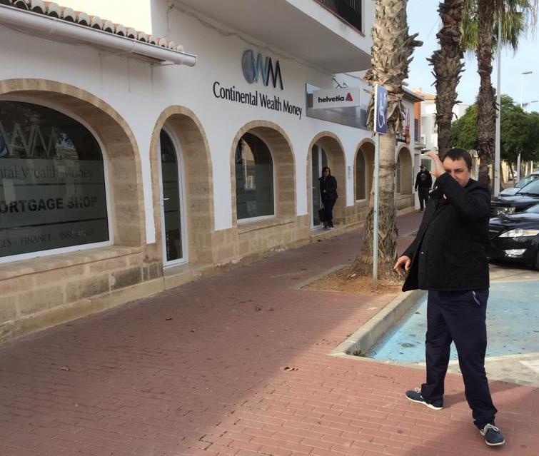 Darren Kirby in front of CWM office